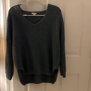 Soft knit v neck sweater